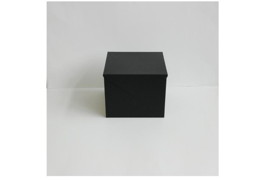 Boite-cube à rabats aimantés, position fermée